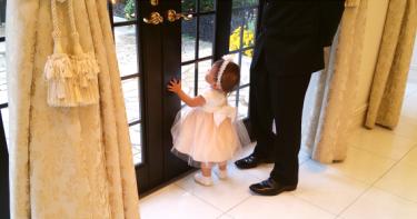 1歳児を連れての結婚式。